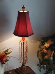 Pair of red Vintage lamps