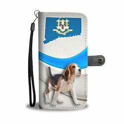 Amazing Beagle Print Wallet Case-Free Shipping-CT State