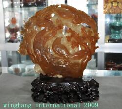 China Feng Shui Natural Agate Onyx Hand Carved Magpies Bird Plum Flower Statue