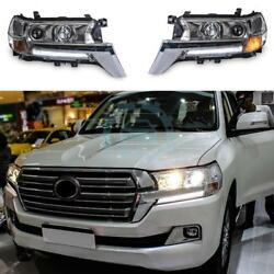 Cars Headlight LED DRL And Dual-optical Lens Fit For Toyota Land Cruiser 2016