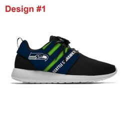 Seattle Seahawks Menand039s Womens Lightweight Shoes Sneakers Football Team Fans New