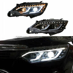 For Toyota Camary 2013-2015 LED Assembly Headlights Refit HID Bi-xenon Projector