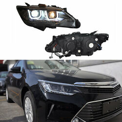 For Toyota Camary 2013-2015 U-Shaped LED Composite Assembly Headlight HID Lamp