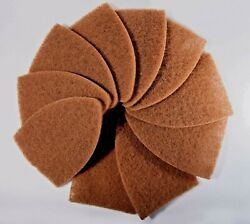 Window Tint Tools Scrub-it Green Replacement Pads 10 Pcs Pack Tan Color.