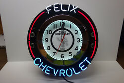 FELIX CHEVROLET quot;ATTENTIONEERquot; style CUSTOM NEON SUPER CLOCK BOMB LOW RIDER USA