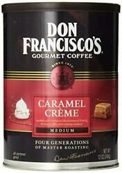 Don Franciscoand039s Caramel Creme 100 Arabica Coffee Beans Flavored Med Ground 12oz