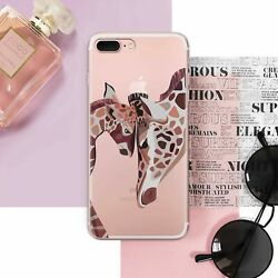Giraffes In Love iPhone X Gel Snap Lovely Animals iPhone 7 8 Plus Silicone Case