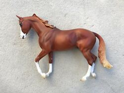 Gorgeous Breyer Peter Stone Horse Thoroughbred Chestnut Awesome Alec Matte #2101