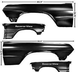 Chevy, Chevrolet Impala Front Fender Set Left And Right 1963
