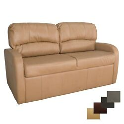 Recpro Charles 65 Toffee Jack Knife Rv Sleeper Sofa Bed Couch With Arms