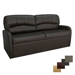 Recpro Charles 65 Chestnut Jack Knife Rv Sleeper Sofa Bed Couch With Arms