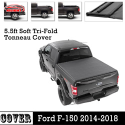 For 2016-2018 Ford F-150 5.5ft Short Bed Tri-Fold Soft Vinyl Tonneau Cover