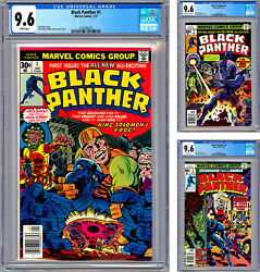 Black Panther 1-2-3 Cgc 9.6 Jack Kirby Stories Cvrs And Art Premiere Issues 1977