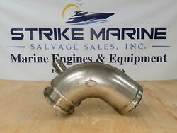 Wet Exhaust Mixing Elbow, 4 Wet Outlet, 1-1/4 Inlet, 3 Id Dry, 4-1/8 Flange