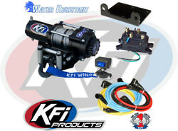 Kfi Products Winch A2000 2000 Lb Steel Cable Rope Atv Utv W/ Handlebar Switch