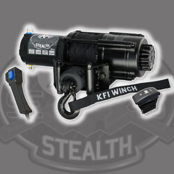 Kfi Products Stealth Winch 4500 Lb Synthetic Cable Rope Atv Utv Dash Switch