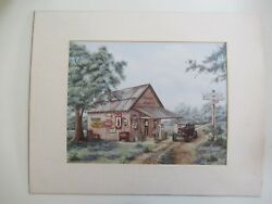 Art Print By Kay Lamb Shannon Mike's Garage Coca Cola Litho Print Matted