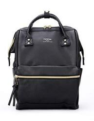 Leather Backpack Diaper Bag with Laptop Compartment Travel School for Women Man