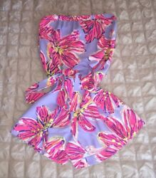 Lilly Pulitzer Ritz Strapless Romper Party Girl Size XXS EUC RARE Holy Grail