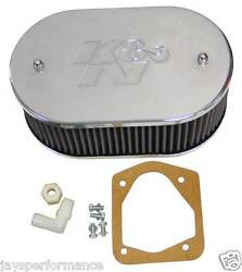 56-1652 Kandn Custom Air Filter Kit For Single And Twin Barrel Carbs