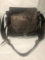 Chloandeacute Brown Leather Large Bag 13 1/2 X 14. Never Used Mint