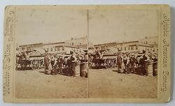 Haymarket Square Chicago, Ill. Stereoview Photograph Webster And Albee