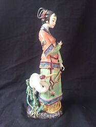 Antique Chinese Porcelain Figurine Statue Several Signs + Sealmark