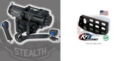 Kfi 4500 Lb Synthetic Cable Winch And Mount Kit John Deere Gator Xuv 625 825 855