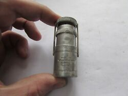 A1 Stunning Xx Rare Vintage Hardy Alnwick Alloy Zefer Dry Fly Fishing Oil Bottle