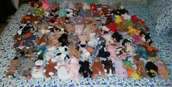 TY Beanie Baby Lot of 96 with tags rares retired errors