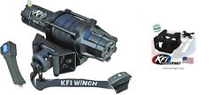 Kfi 5000 Lb Assault Synthetic Cable Winch And Mount Kit Polaris 101840 100210