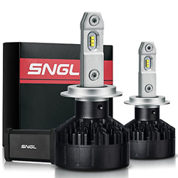 SNGL Super FocusBeam LED Headlight Bulbs Conversion Kit - Anti-flicker kit - 2