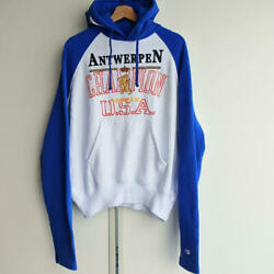 Champion VETEMENTS Pull Over Hoodie Size S color Blue Mens fashion C10