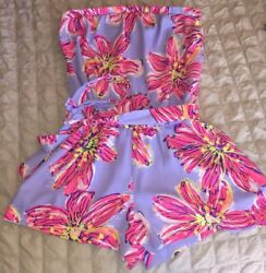Lilly Pulitzer Ritz Strapless Romper Party Girl Size Large EUC RARE Holy Grail
