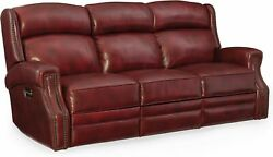 Hooker Furniture SS460-P3-165 84-14 Inch Wide Leather Sofa from the Carlisle Co