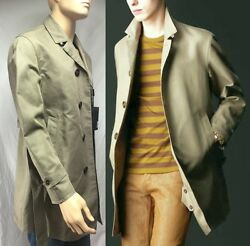 $2695 RUNWAY Burberry Prorsum 38 48 Men Cotton Linen Trench Coat Holiday Gift A