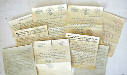 Judaica Lithuania 9 Handwritten Letters By Rabbi Fridman And Others 1929 Hebrew