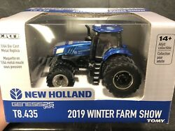 Rare New 2019 Winter Farm Show Limited Edition T8.435 1/64 Scale New Holland