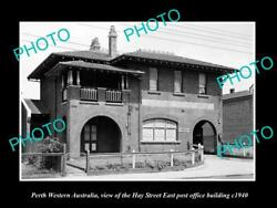 Old Large Historic Photo Of Perth Western Australia Hay St East Post Office 1940