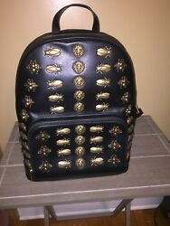 Gucci Animal Studs Leather Backpack 100% Original used 1 Time