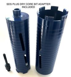 2andrdquo And 3 Dry Diamond Core Drill Bit With Sds Plus Adapter Fits Bosch Hilti