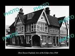 Old Large Historic Photo Hove Sussex England The Eclipse Inn C1940