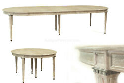 Round Expanding Dining Table Seats 4 to 12 People- White
