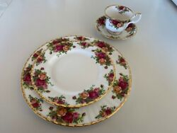 Royal Albert Old Country Roses 1962 Bone China 6 4 Piece Place Setting.dinner