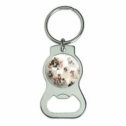 Cool Dudes Dogs In Outfits Keychain With Bottle Cap Opener