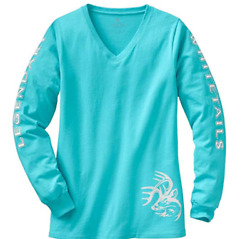 NEW NWT Legendary Whitetails Ladies Non-Typical Long Sleeve Tee Glacier Large
