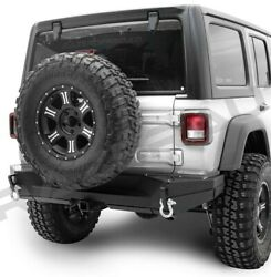 Xtreme Rock Crawler Hd Rear Bumper+hitch+double Plate For 18-19 Jeep Wrangler Jl