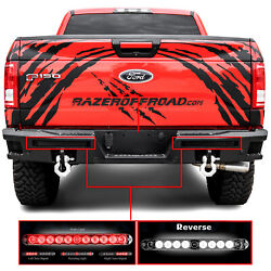 Extreme Rear Bumper+twin Led Taillight Bar+hitch+step Plate For 15-17 Ford F150