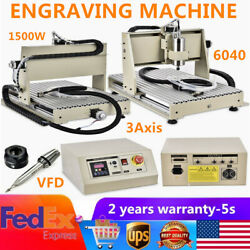 3 Axis 1.5KW VFD 6040 Router Engraver 1500W Spindle Motor Milling Machine EU