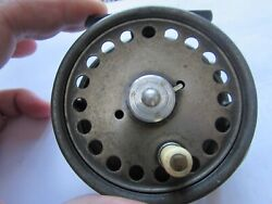 Vintage Early Hardy St George 3 Screw Agate Wide Trout Fly Fishing Reel 3 + 3/8